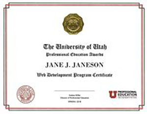 University of utah professional education web development powered highest level of relevant education university of utah professional education and devpoint labs offer a full time web development certificate program 1betcityfo Choice Image